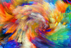 Hypnotic Rainbow Swirls - Abstract Poster Print - Digital Art - Abstract Artwork