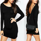 Sexy Women's Long Sleeve Bandage Bodycon Evening Party Cocktail Short Mini Dress