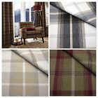 BALMORAL WOOL TOUCH TARTAN CURTAIN UPHOLSTERY FABRIC - DESIGNER WASHABLE CHECK