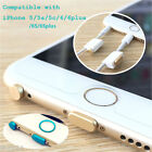 5in1 Metal Ear Data Dust Plug & Keeper Home Ring for iPhone 6s 6sPlus 6 6Plus 5s