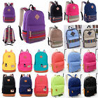 Womens Canvas Shoulder School Book Bag Backpack Travel Satchel Rucksack Handbag