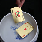 Fashion Appealing High Grade Silver Gold Foil Poker Playing Cards Waterproof E5T