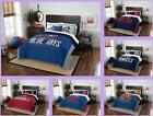 MLB Licensed 3 Piece Full Queen Comforter & Sham Bed Set In A Bag - Choose Team