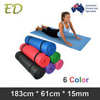 Brand New Free Postage Extra Thick 15MM Nonslip NBR Yoga Gym Pilate Mat 6 Colors