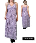 New Women's Plus Size Purple Black Leopard Print Maxi Tank Dress Size 1X USA