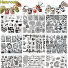 Nail Art Stamping Plates Stainless Steel Image Stamp Template Harunouta Manicure