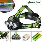 40000LM 5x XM-L T6 LED Rechargeable 18650 USB Headlamp HeadLight Zoomable TorchK