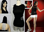Just Dance Costume Black Hoodie & Metallic Silver Shorts w/ 2 Appliques Hip Hop