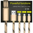 Universal 3 in1 Multi USB Charger Charging Sync Cable for Android Phones Tablets