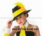 Black Gangster Hat Yellow Band & Feather Capone Gatsby Halloween Dance Costume