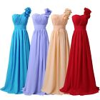 HOT Chiffon Wedding Dress Bridesmaid Cocktail Evening Formal Long Gowns Festival