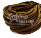 10mm ELASTIC BUNGEE ROPE SHOCK CORD TIE DOWN BROWN, ROOF RACKS TRAILERS BOATS