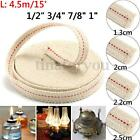 15ft 1'' 3/4'' 7/8'' 1/2'' Flat Cotton Oil Lamp Wick Roll For Oil Lamps Lanterns