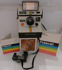 Polaroid SX-70 Rainbow OneStep Instant Camera &Manuals +Q-Light & Timer TESTED