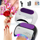 UK Plug 48W UV Lamp Nail Dryer Gel Polish Curing Dryer Lamp Art Tips Timer Light