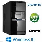 GIGABYTE POWER KOMPLETT-PC: AMD FX-4300 4x 4,0GHz 8GB SSD USB3 WINDOWS 10 / 7