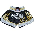 BLACK '10YR' KICK BOXING SHORTS MUAY THAI KICKBOXING MARTIAL ARTS