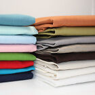 WASHED 100% LINEN FABRIC - ALL COLOURS - 140CM  WIDE DRESSMAKING FREE POSTAGE