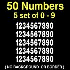 0-9 Numbers Vinyl Decal Sheet, 5 Sets Of 0-9, Mailbox Hobby Sports 50 Numbers