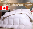THE BEST HUNGARIAN WHITE  GOOSE DOWN DUVET 750 LOFT  FILLED IN CANADA