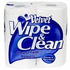 Velvet Wipe & Clean Household Towels 2 Ply Paper Cleaning Kitchen Rolls 2 Pack