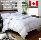 CANADIAN WHITE GOOSE DOWN DUVET COMFORTER  FILLED IN CANADA FULL QUEEN KING