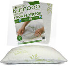 Hypoallergenic Aloe Vera Infused Bamboo Zipper Pillowcase Cover Cooling Comfort
