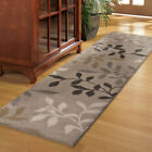Beige Transitional Machine Made Leaves Vines Branches Area Rug Floral 2420
