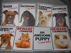 Plastic Sign Puppy Boxer Dachshund Pitbull Rottweiler Terrier Dogs LIVES HERE