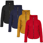 Tokyo Laundry Womens Honey Padded Jacket Ladies Zip Up Quilted Funnel Neck Coat
