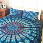 bohemian cotton bedding set in queen size and 2 matching pillows