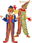 Boys Clown Costume Childs Circus Carnival Fancy Dress Suit Kids Book Week Outfit