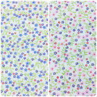 Misty Mo mini floral pattern 100% cotton fabric pink / blue per 1/2 Metre / FQ