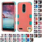 For ZTE Imperial Max / Max Duo 4G LTE Hybrid TUFF IMPACT Phone Case Hard Cover
