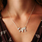 Fashion World Map Pendant Necklace Charm Collar Unisex Travel Abstract Jewelry