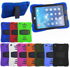 For iPad - ABSORBING STYLE DUAL LAYER SILICON SHOCKPROOF PROTECTIVE CASE COVER