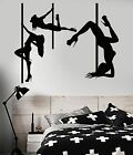 Vinyl Wall Decal Striptease Sexy Girls Pole Dance Dancers...