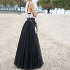 Special Long Skirts 3 Layers Shirt Mesh Pleated Women Flared Tutu Skirts EW