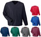 MEN'S WATERPROOF, LINED, WINDSHIRT, PULLOVER, V-NECK, POCKET, BREATHABLE, XS-4XL