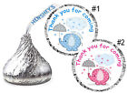 216 BLUE ELEPHANT OR PINK ELEPHANT BABY SHOWER FAVORS HERSHEY KISS KISSES LABELS