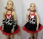 Perky Puppy Dance Costume Tutu Tap Dress w/Sleeves Cowgirl Child Small Clearance