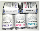 60 SWEET 16 BIRTHDAY PARTY FAVORS CANDY WRAPPERS LABELS