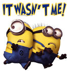 NEW Minions Despicable Me Funny T-Shirt Tee Humor It  Was't Me Birthday Gift image
