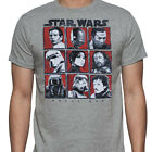 Star Wars Rogue One Character Squares Grey Adult T-Shirt