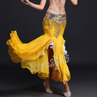 Women Belly Dance Costume Perform Fishtail Hip Long Skirt Stretch Waist 7 Colors