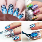 16 Styles Nail Art Hollow Laser Stencil Template Stickers Vinyl Image Stamp Tool