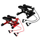 Charles Bentley Hydraulic Twist Mini Stepper With Training Ropes - Red / Black