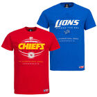 Majestic Athletic Herren T-Shirt NFL Detroit Lions Kansas Kansas City Chiefs neu