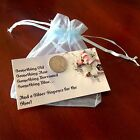 Lucky Wedding Sixpence w/Gift Card and Pouch! Free shipping!
