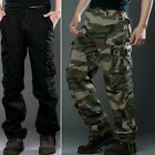 Mens Cotton Military Combat Cargo Pants Camouflage ARMY Camo Trousers Work Pants
